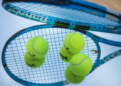 green tennis ball on white net us open tennis zoom background