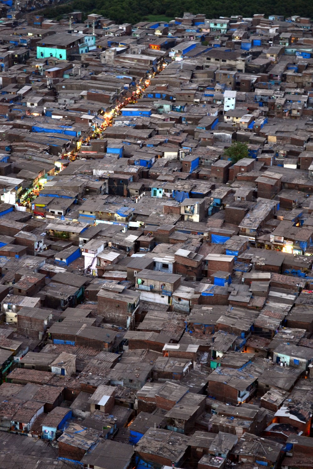 aerial view of houses during daytime