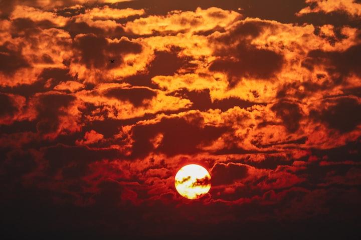Red Setting Sun