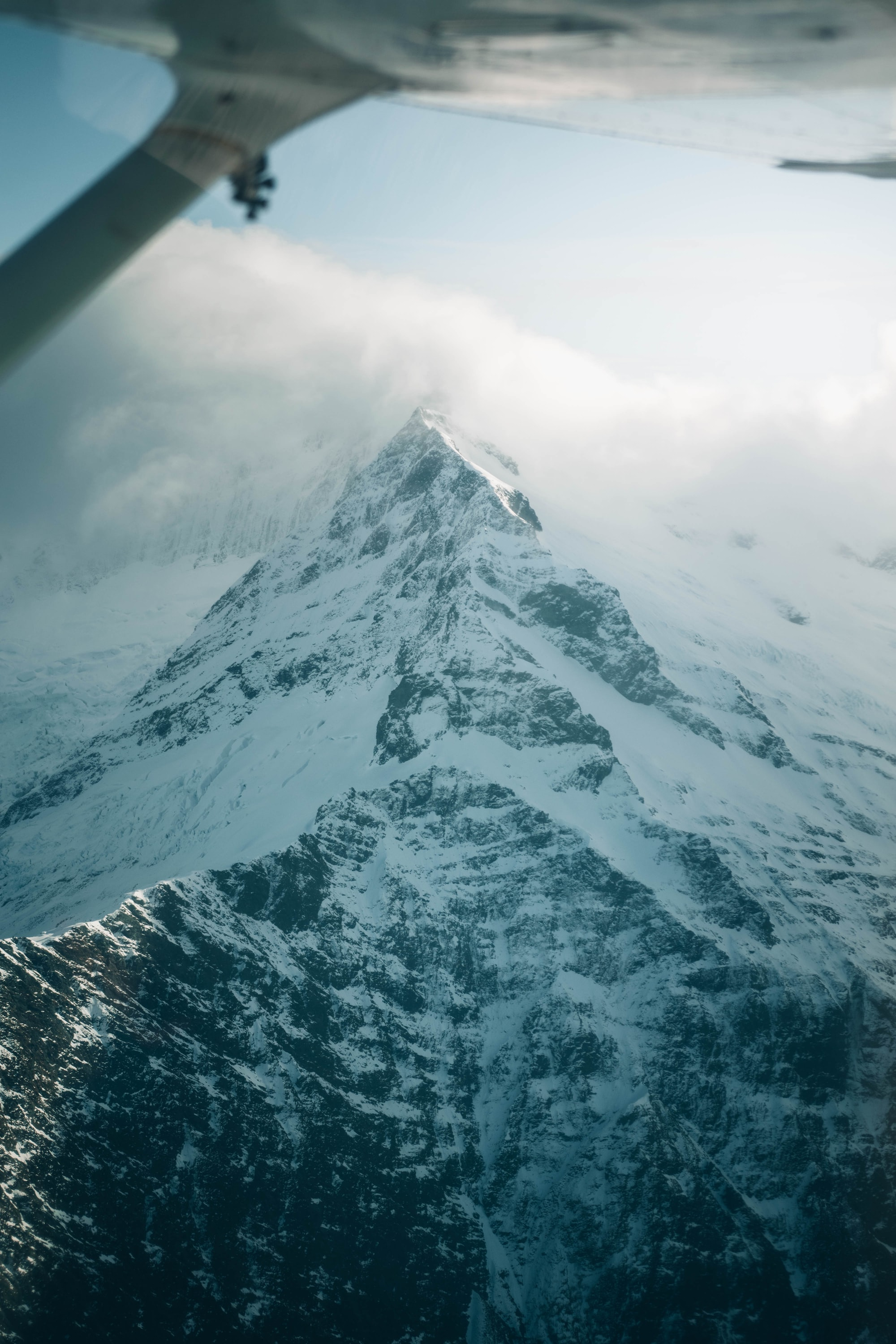 Scenic flight over the incredible mountains near Queenstown NZ