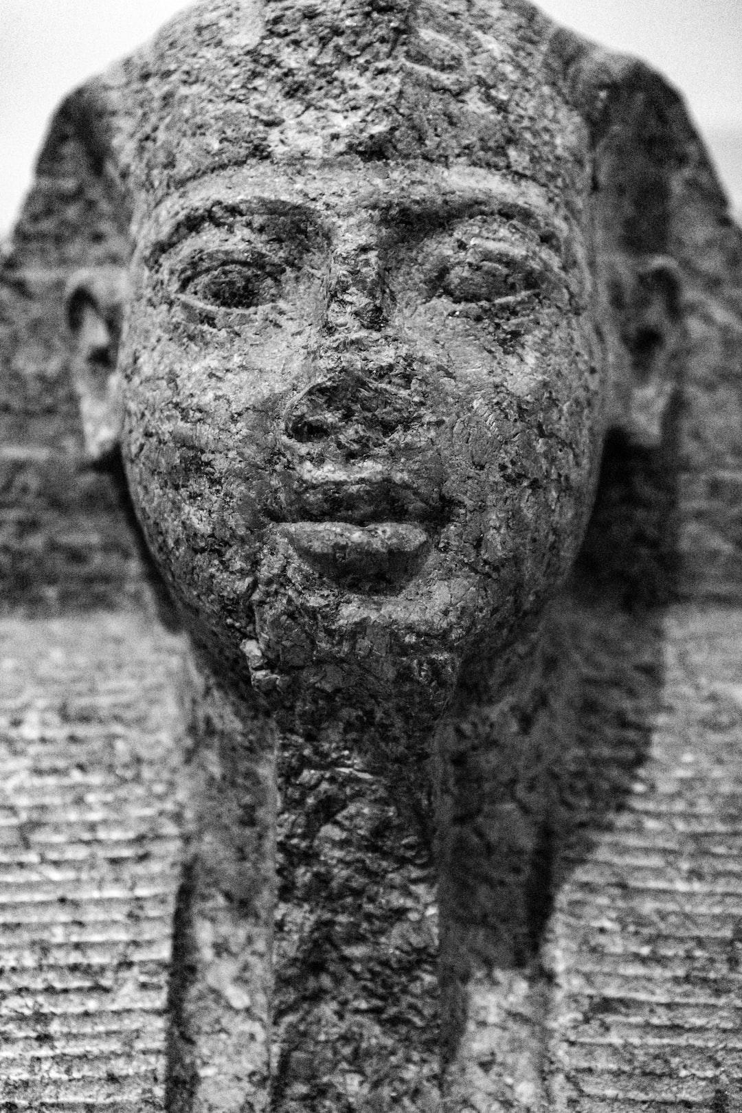British Museum, London, UK. January 2020. Statue, Egyptian.