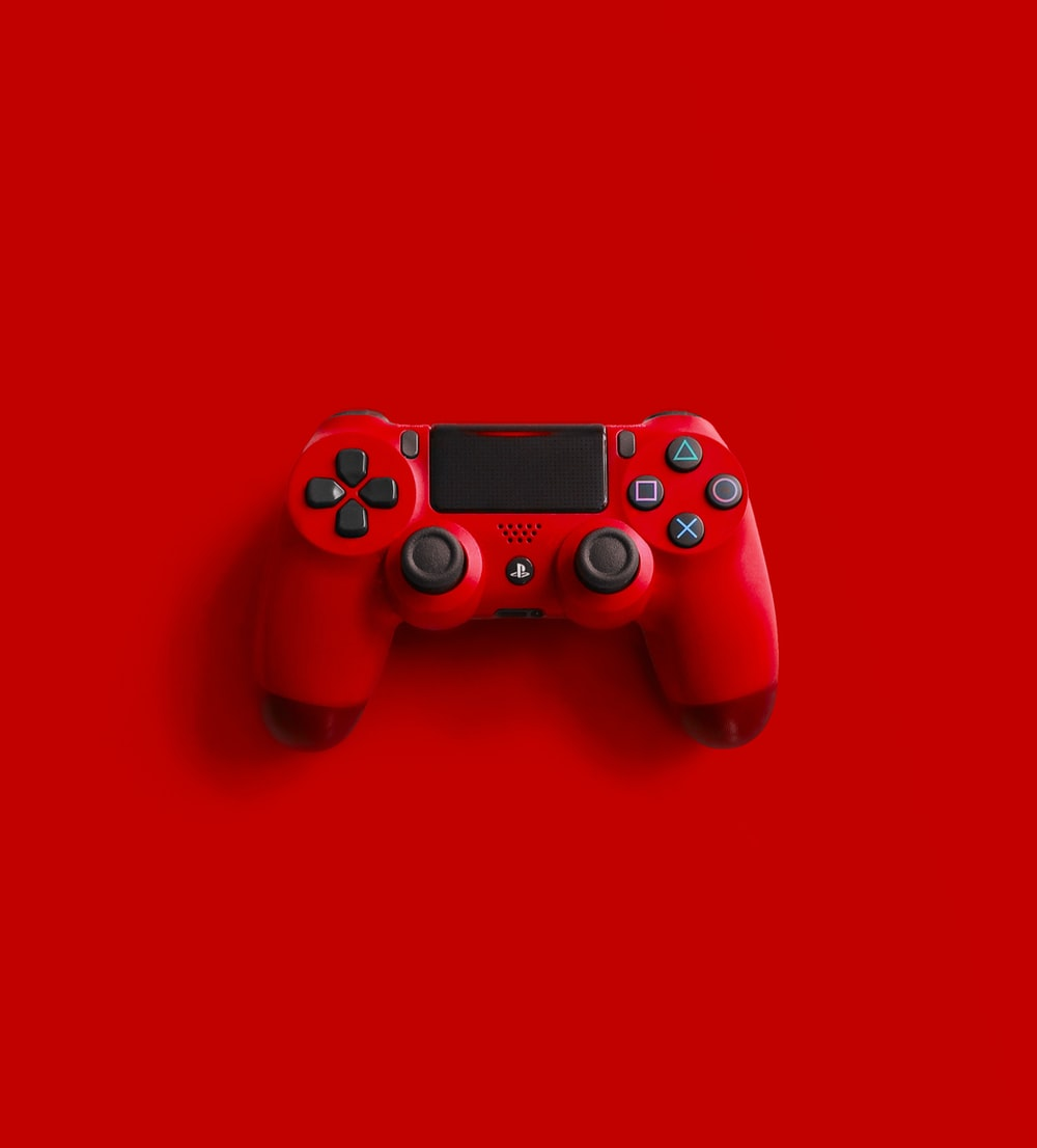 red sony ps 4 game controller