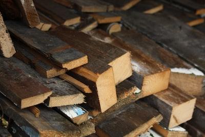 brown wooden blocks on brown wooden table craftsman zoom background