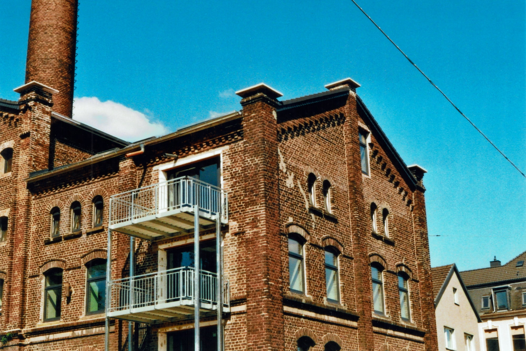 An old brick factory building is turned into loft appartments. (A)