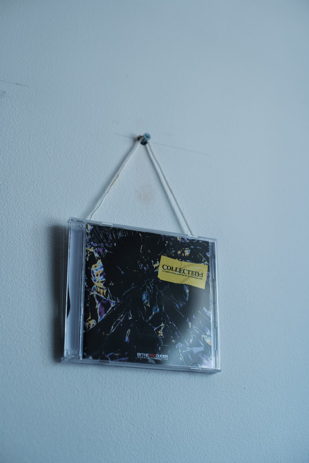 black and yellow cd case