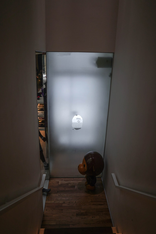 white wall mounted light switch