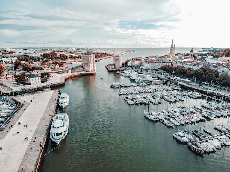 Vieux Port de La Rochelle vue Aérienne