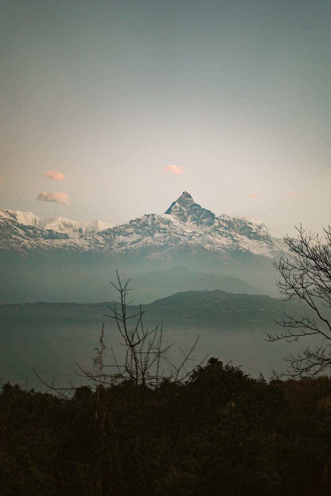 Fishtail view from Bhumdi, Pokhara.