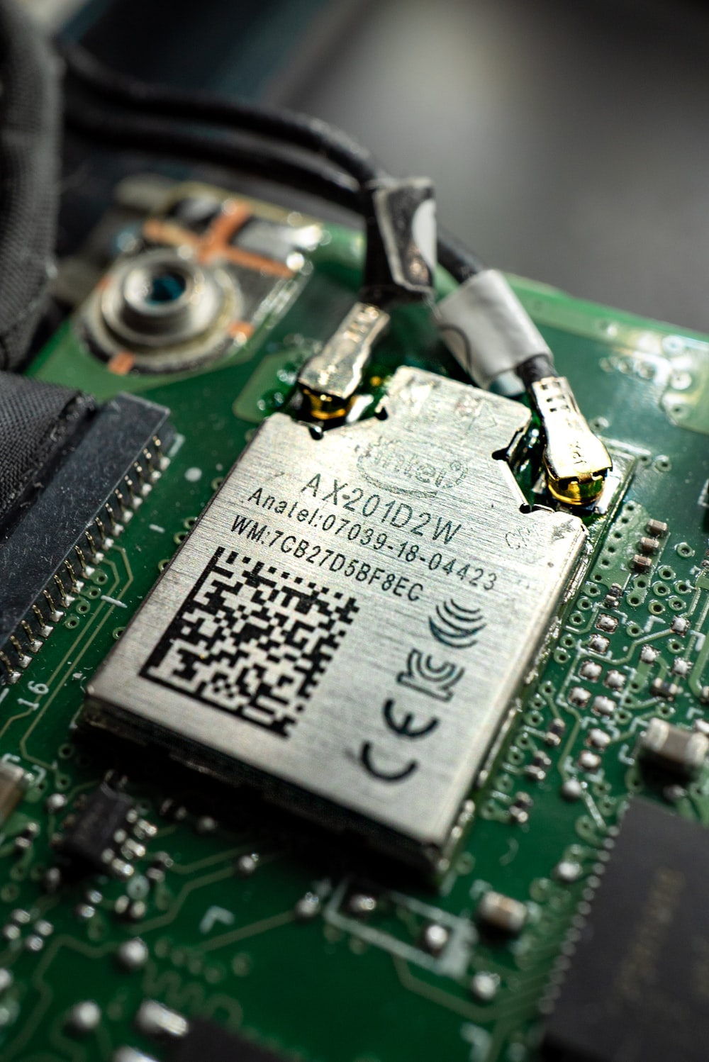 green and black circuit board