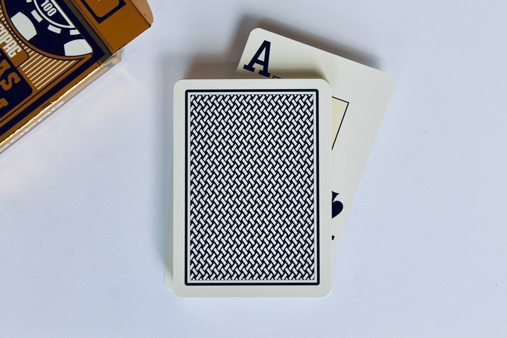 black and white playing card