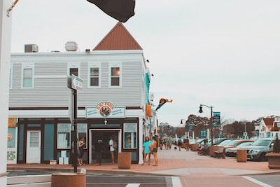 people walking on street during daytime delaware zoom background
