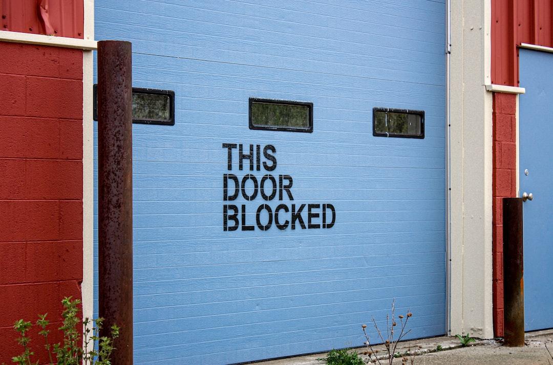 Industrial garage door blocked