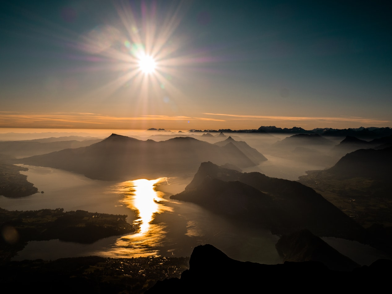 Lake Lucerne from arial view