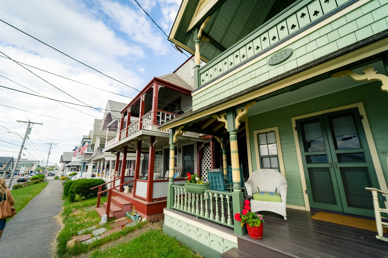 Colorful cottages in Martha's Vineyard, MA