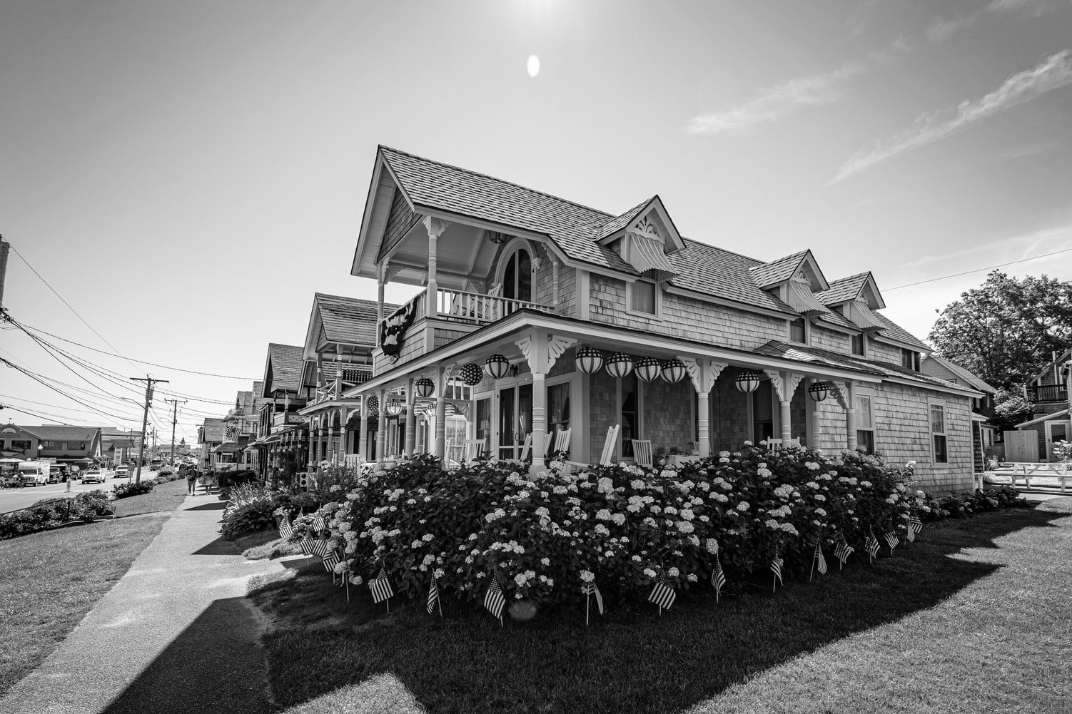 Martha's Vineyard Vacation | Background image of Gingerbread Cottages in Oak Bluffs, MA, 02557