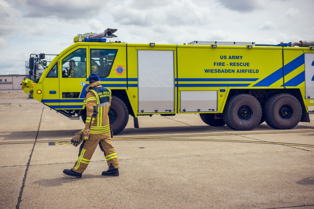 US Army Fire-Rescue at Wiesbaden Airfield