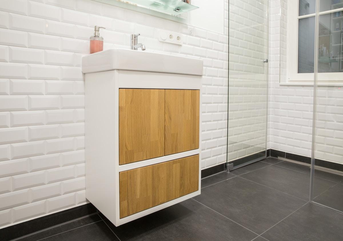 custom bathroom sink cabinet by cabinets by webb
