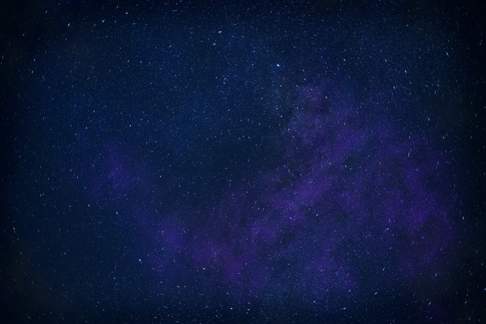 purple and black starry night
