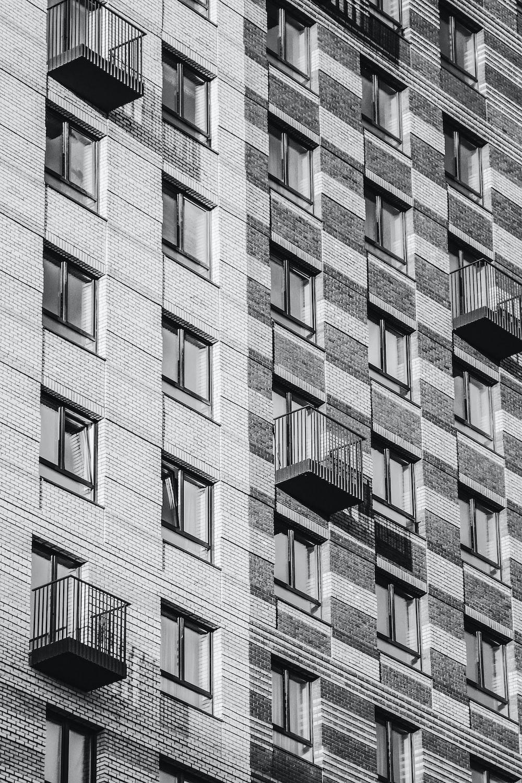 white and black concrete building