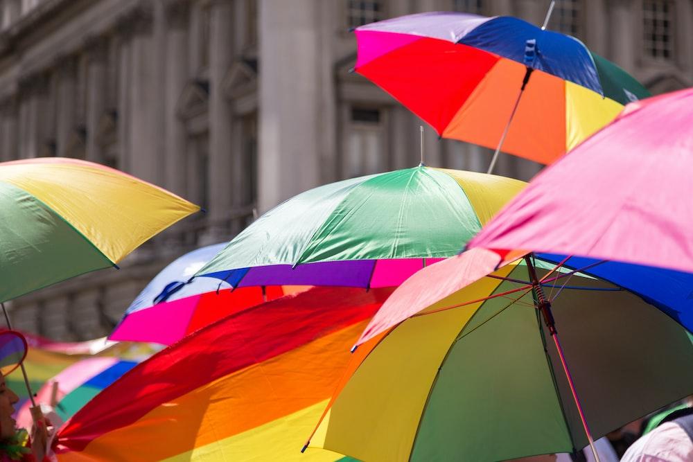 multi colored umbrella during daytime