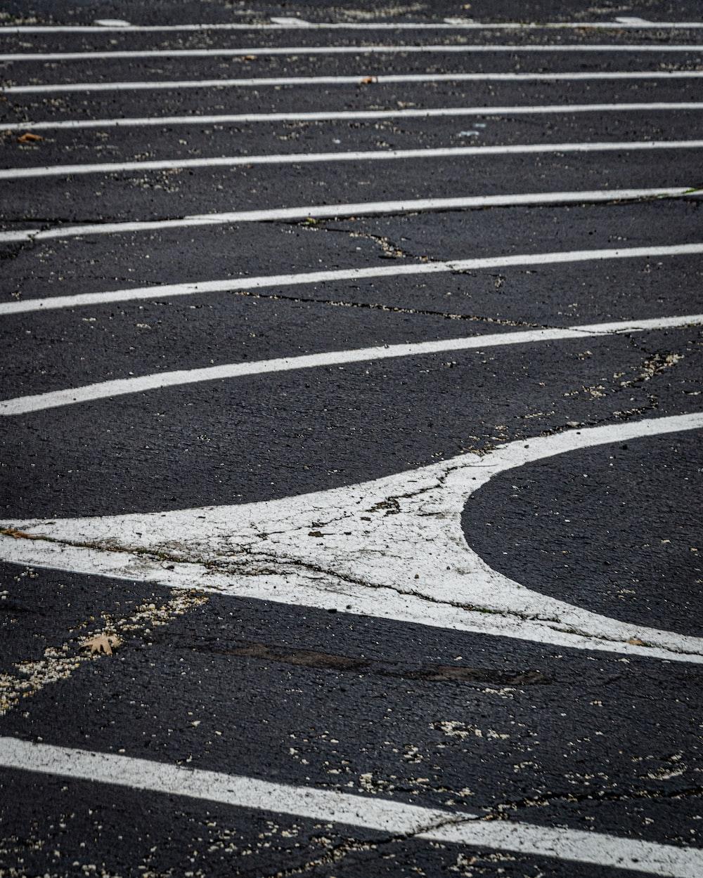 white and black pedestrian line
