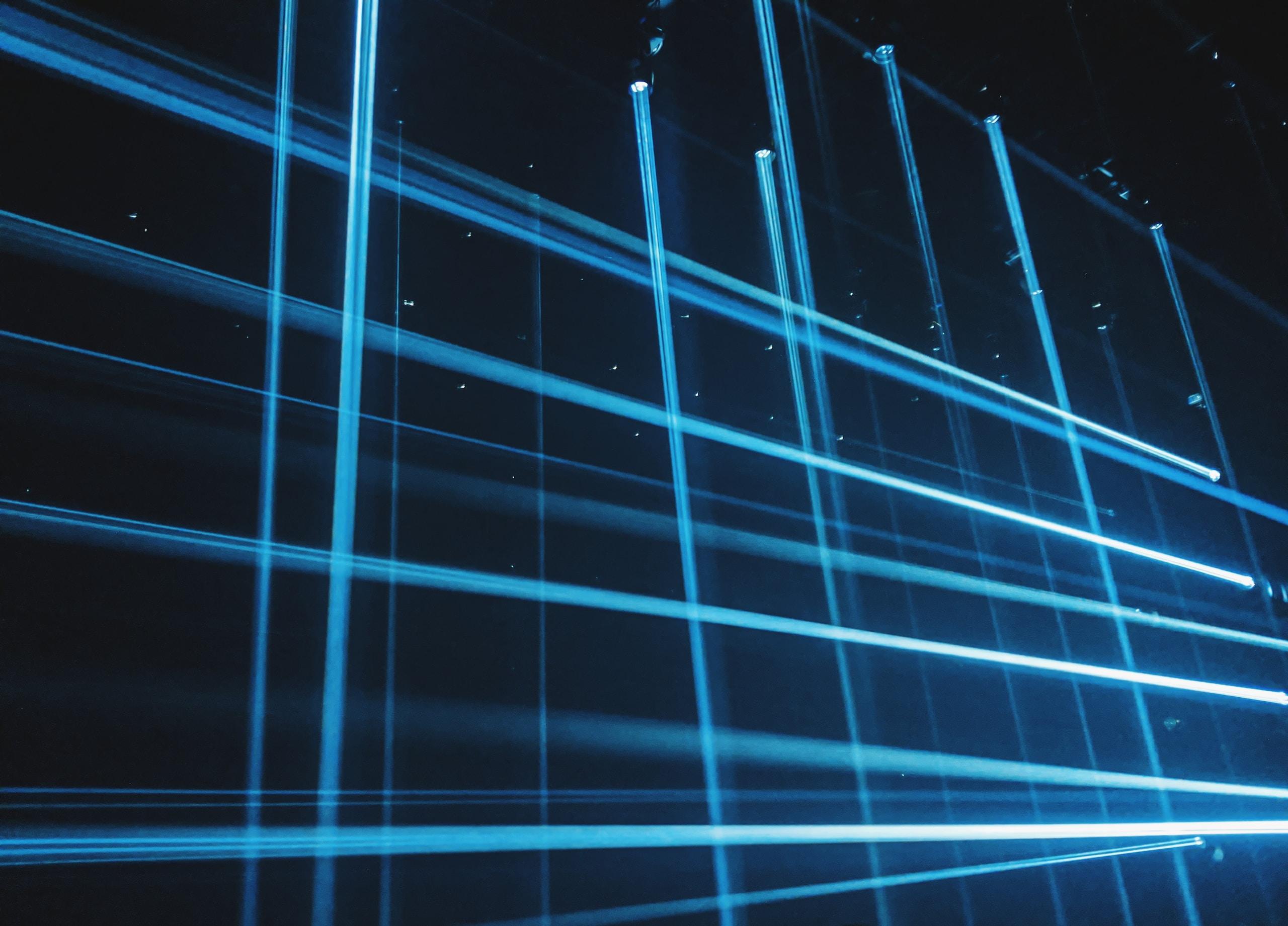 blue and black light digital wallpaper