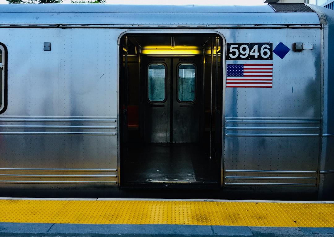 Train back from Rockaway beach