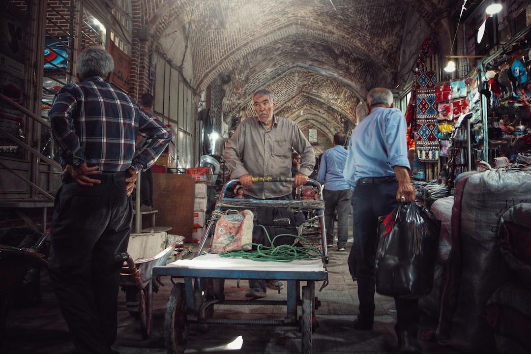 People working in Bazaar of Tabriz In Iran