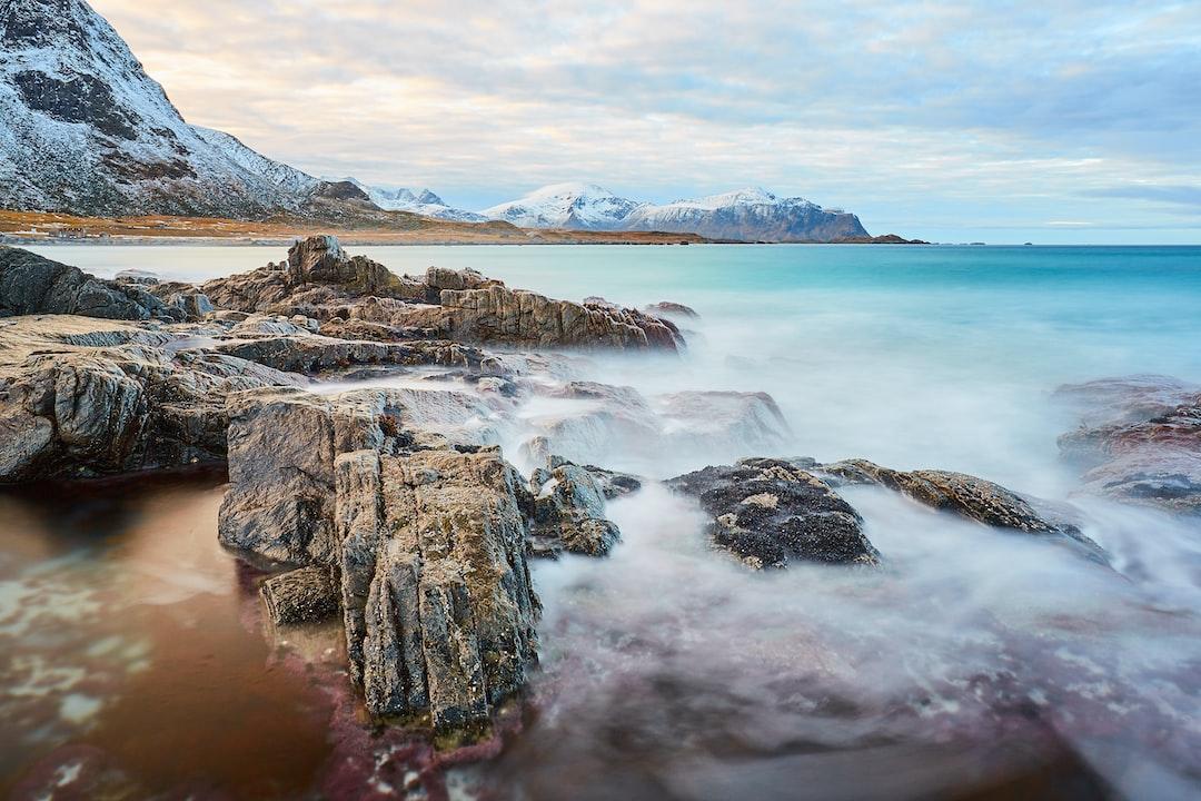 A long exposure on Skagsanden beach, Lofoten islands