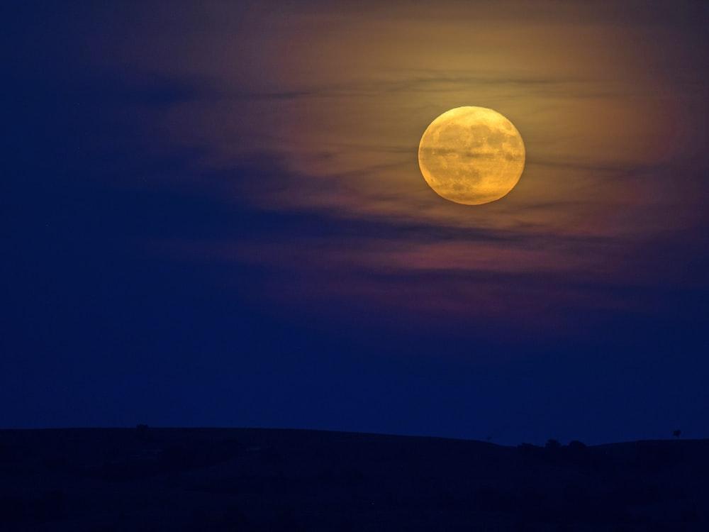 full moon over the mountain