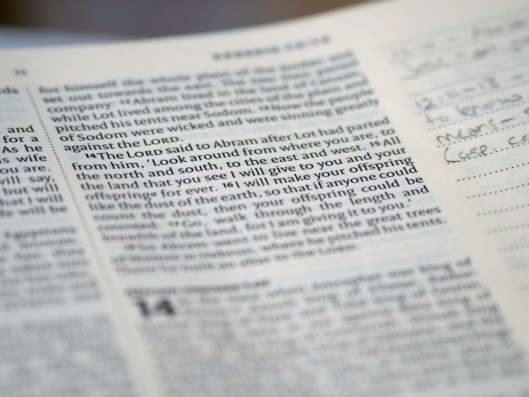 close up, bokeh, macro, blur, blurred background, close focus, bible, old testament, genesis, christian, judaism, history, text, genesis, pentateuch, reading, bible study, devotions,