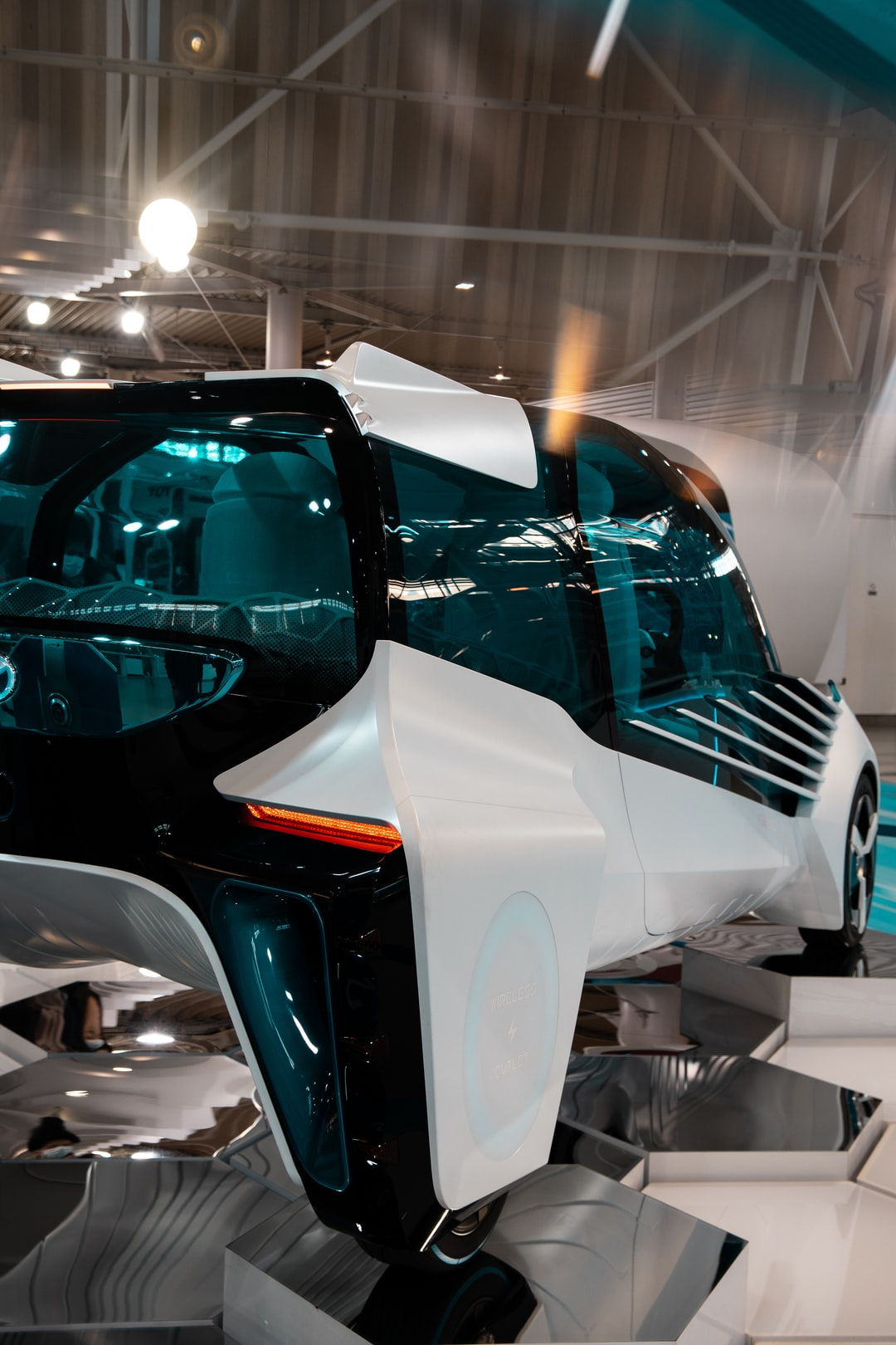 The Toyota FCV Plus Hydrogen Concept car, shown at the 2020 Megaweb Toyota City Showcase in Odaiba, Tokyo