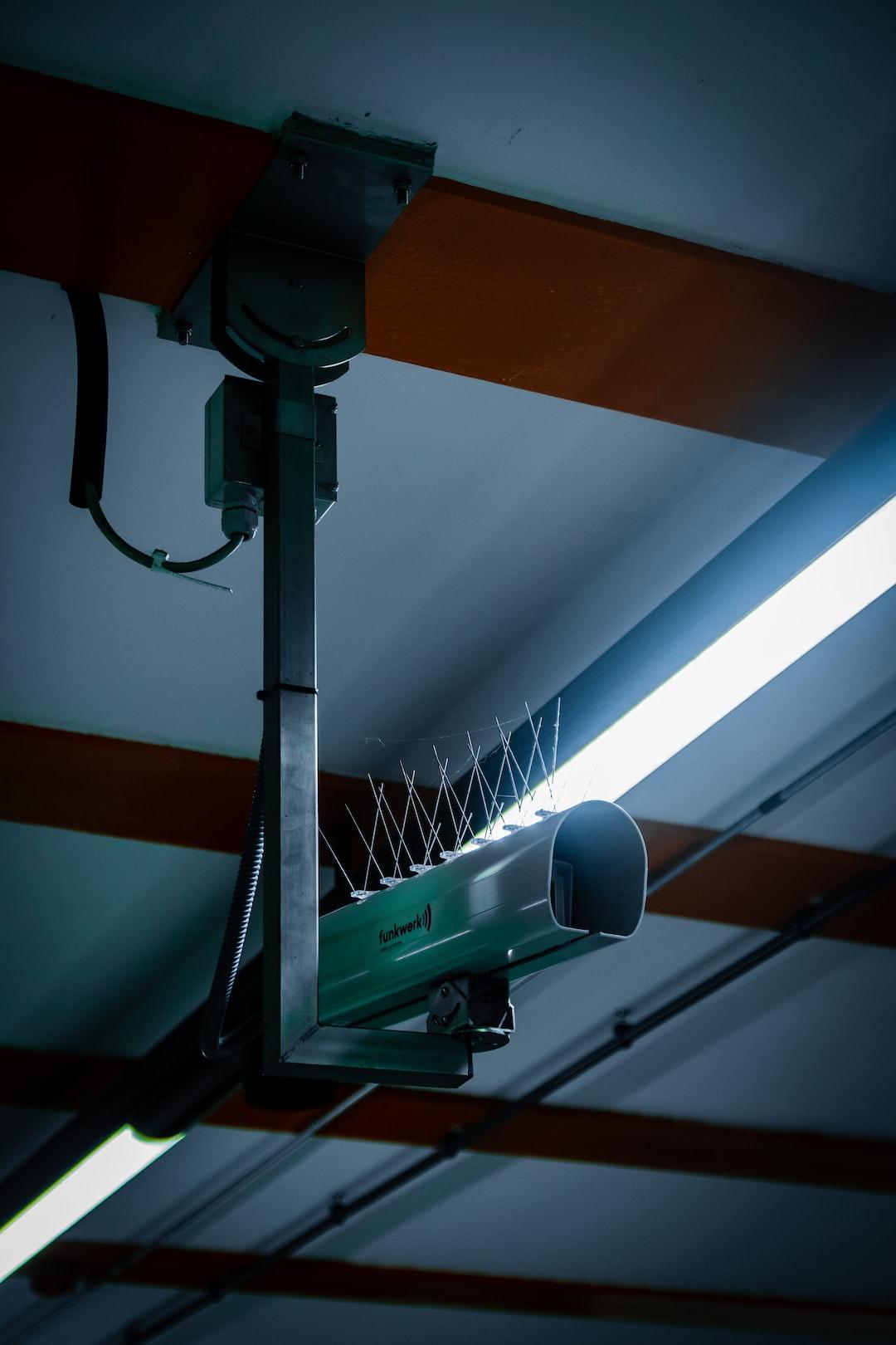 "Surveillance Camera observing the Berlin train station ""Ostbahnhof"""