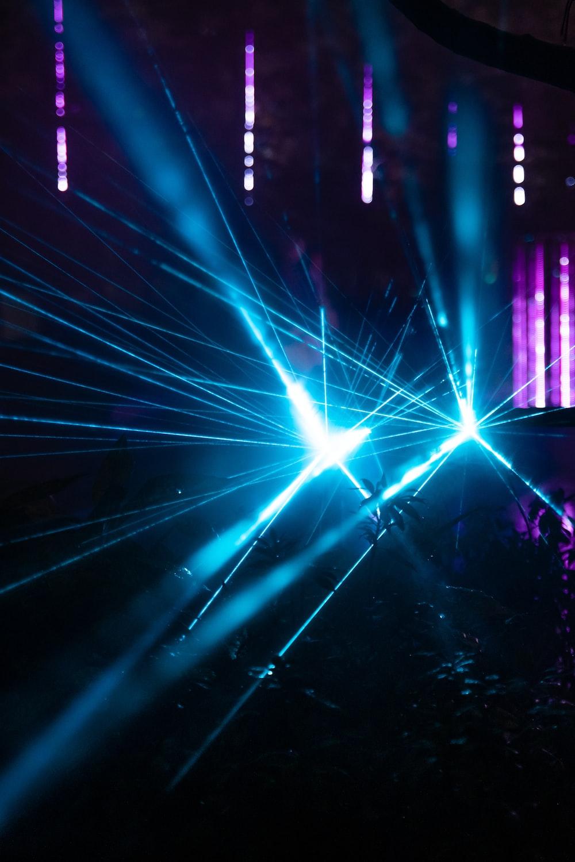 blue and purple light on stage