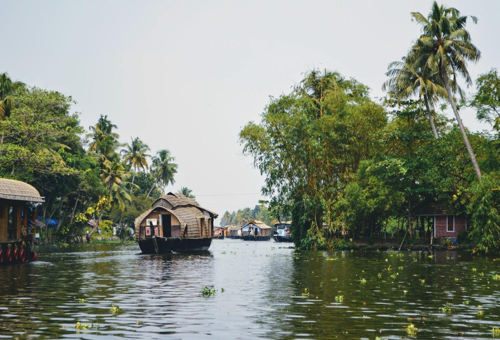 Backwaters in Alleppey. Kerala, India