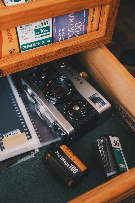 black rollei film camera