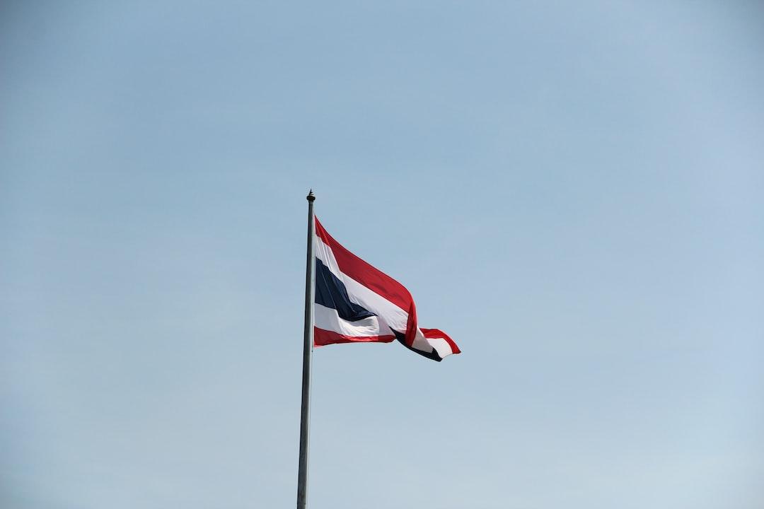 Thailand Thai Flag Pole Sky Blue