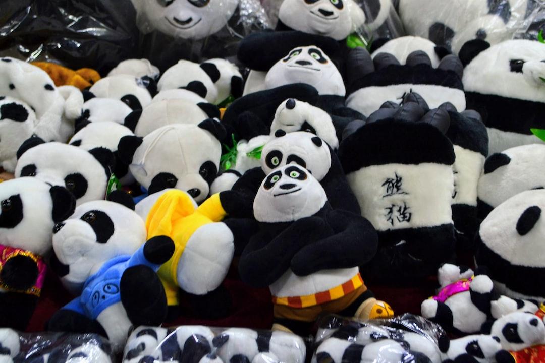 Pandas soft toys