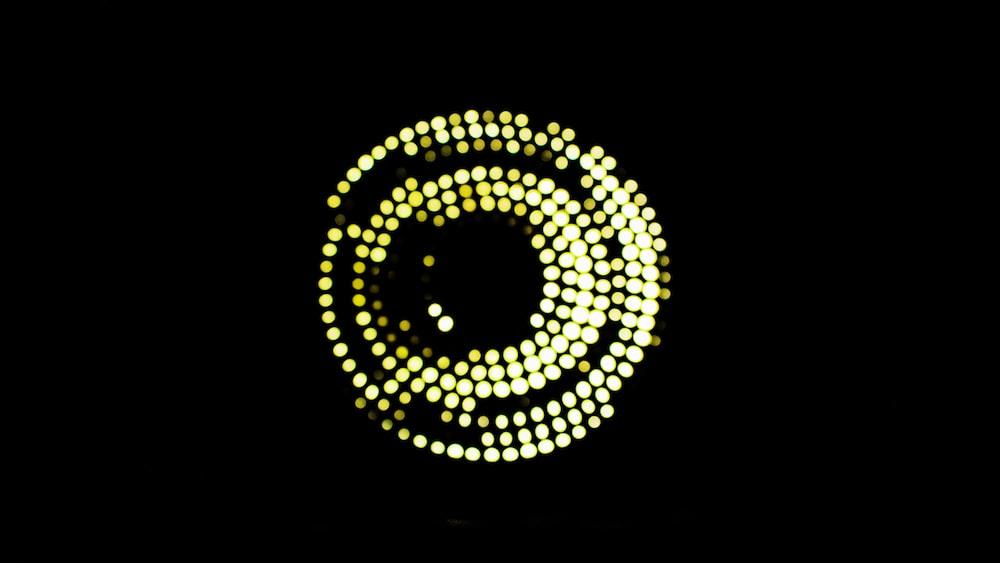 yellow and black round light