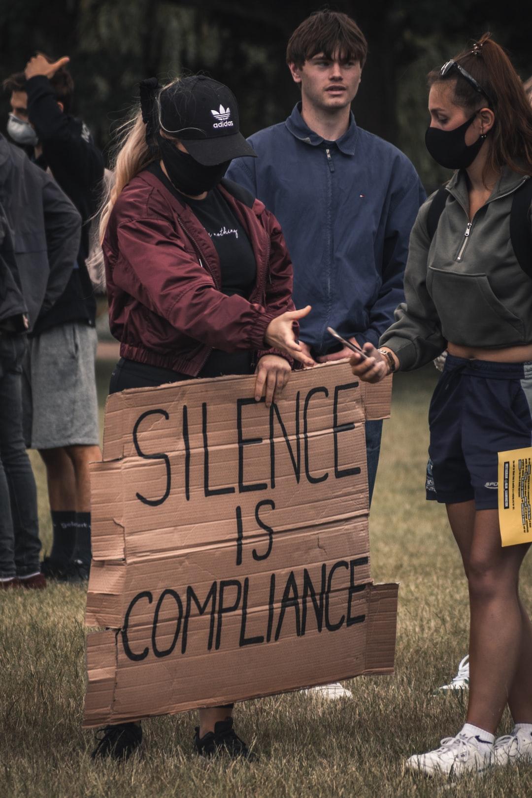 Black Lives Matter Protesters, Leamington Spa