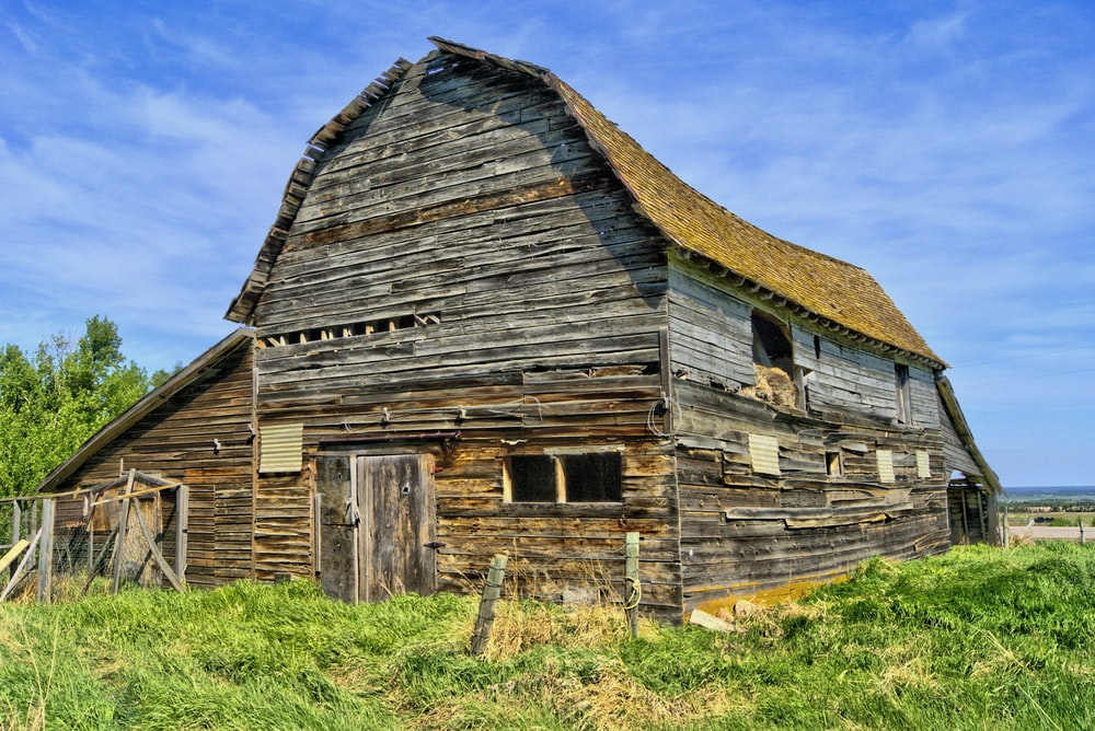 brown wooden barn house on green grass field during daytime