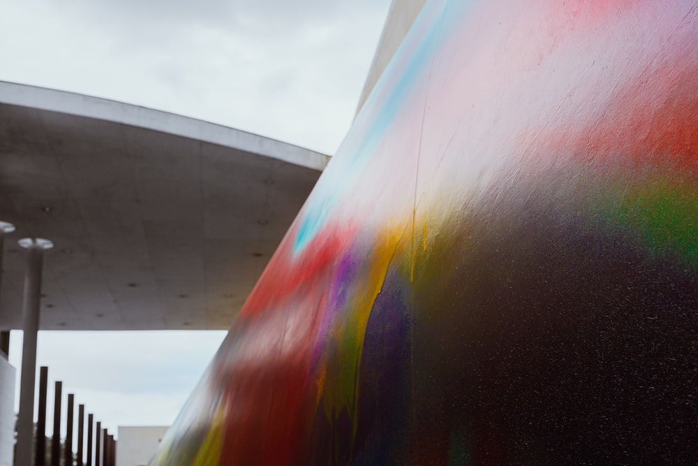 rainbow color wall paint during daytime