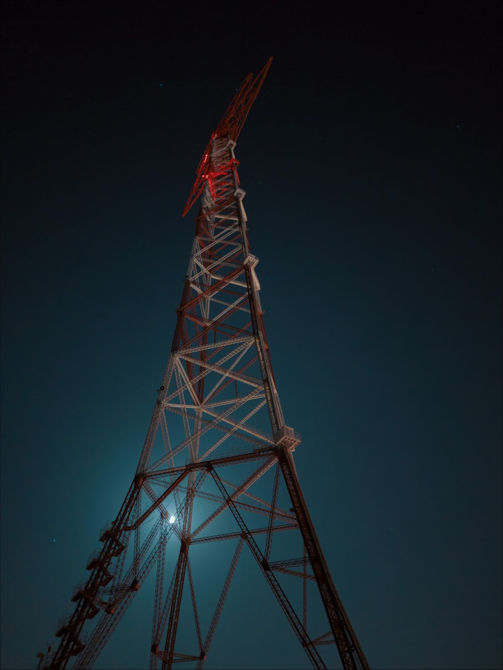 black and red metal tower