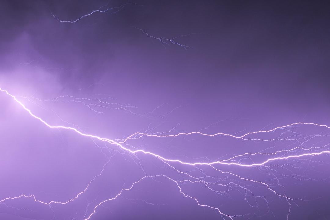 A huge lightning bolt during a summer storm in my hometown.