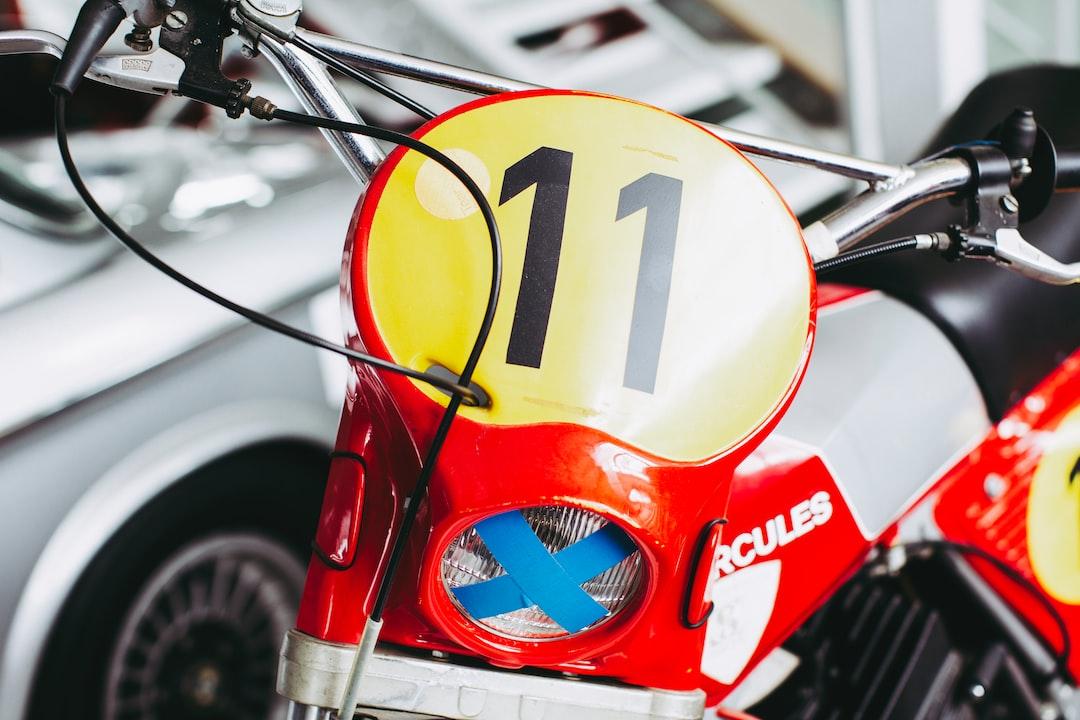 Vintage classic motorcross bike