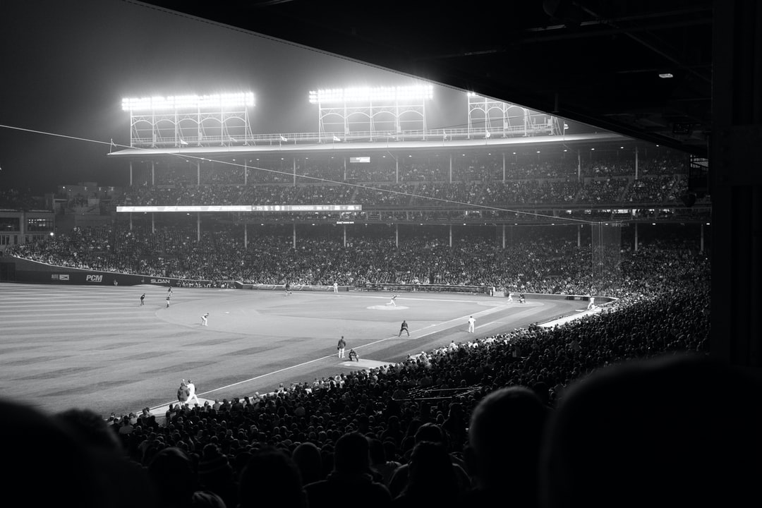 Hazy Nighttime Cubs Game At Wrigley Field. - unsplash