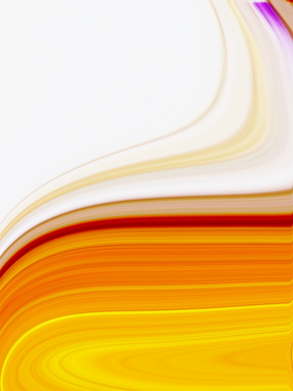 orange and white abstract painting
