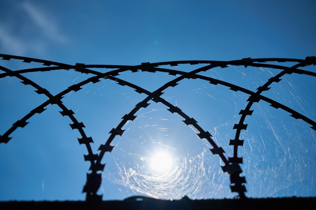 barbed wire and blue sky