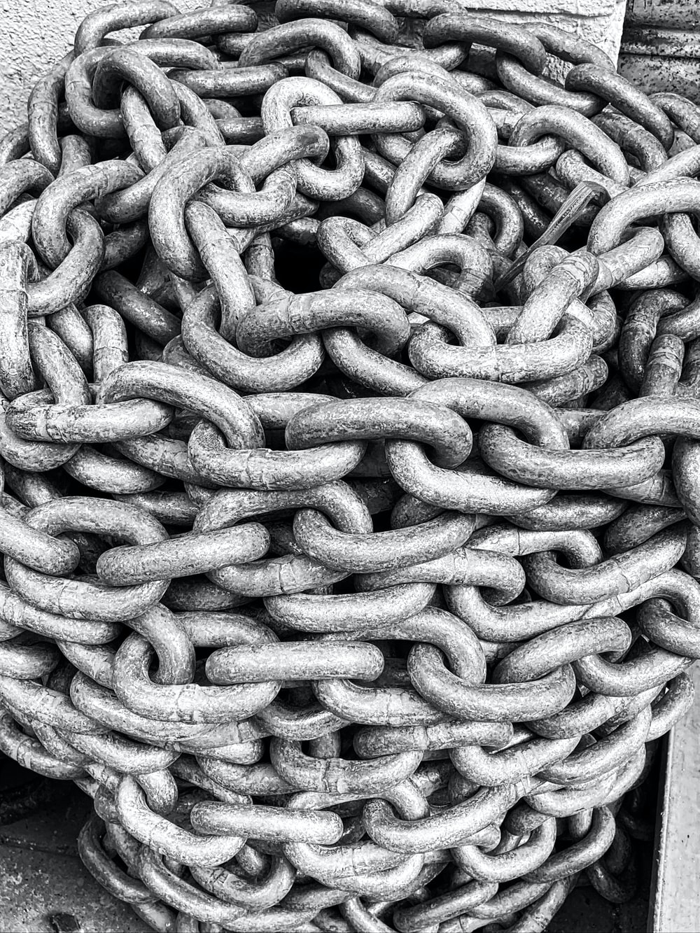 white and gray rope on black textile