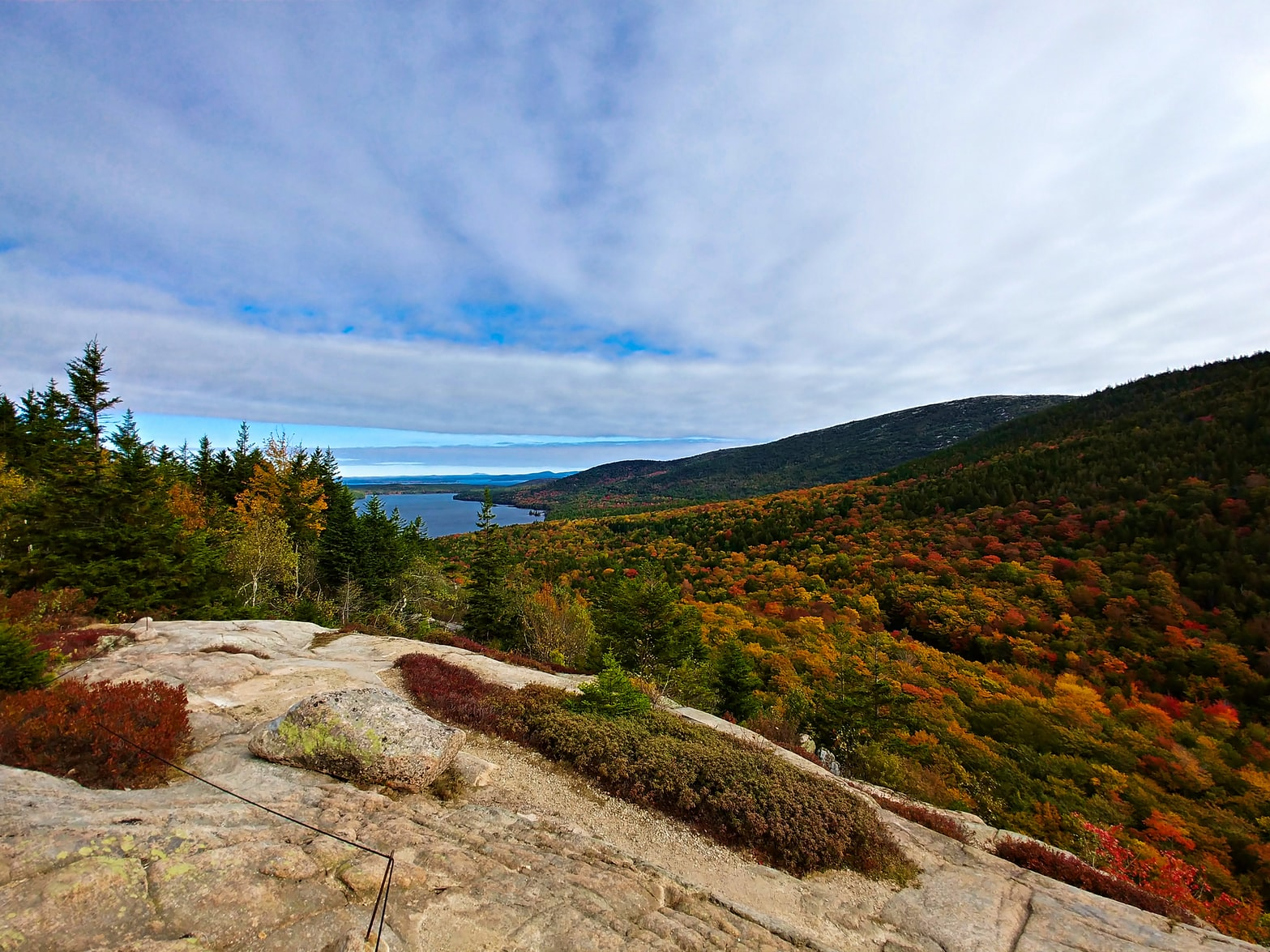 rolling hills during the autumn in Bar Harbor, Maine